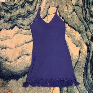 Lilly Pulitzer knit cobalt tassel dress